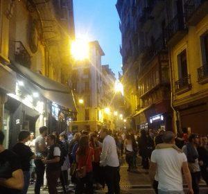 Freitag Nacht in Pamplona