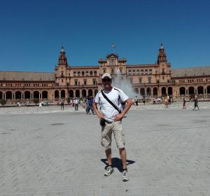 Am Plaza de Espana in Sevilla