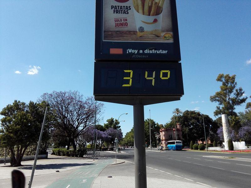 Schon im Mai ist es heiß in Sevilla