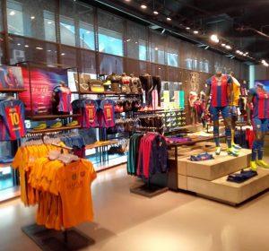 Fanshop des FC Barcelona