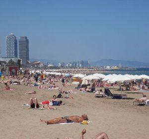 Am Strand von Barcelona