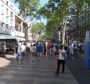"""Flaniermeile """"Las Ramblas"""" in Barcelona"""