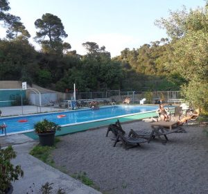 Pool meines Hostels in Barca