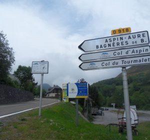 Auffahrt zum Col d'Aspine und Col du Tourmalet