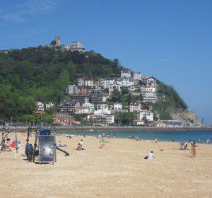 Am Strand von San Sebastian