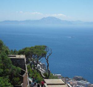 Blick von Gibraltar nach Afrika (Marokko)