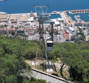Mit der Seilbahn auf den Gipfel von Gibraltar