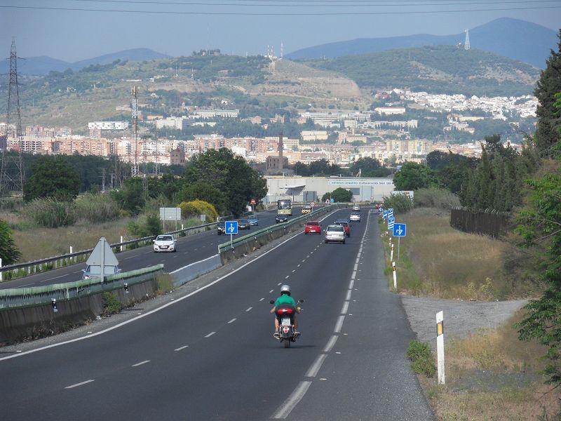 Ankunft in Granada