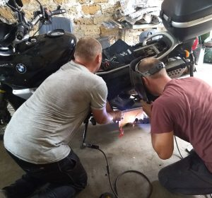 Reparieren des Hauptständerhebels