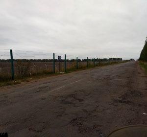 Erbärmliche Straßenverhältnisse vor der russischen Grenze