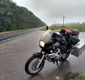 Russland begrüßt mich mit Regen