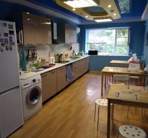 Wohnküche im Goodzone Hostel