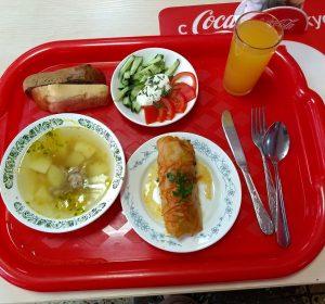 däftige russische Mahlzeit