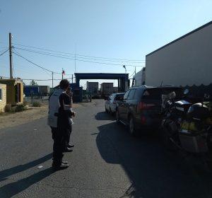 Kasachische Grenze zu Russland