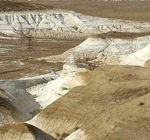 Bizarre Landschaft zw. Beyneu und Aktau