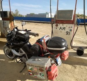 Allerletzte Tankstelle in Kasachstan