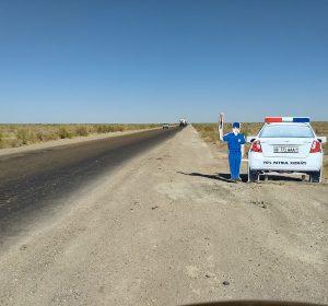 Auch die usbekische Polizei ist überall