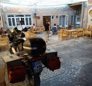Sicher im Innenhof des Rumi Hostels: Die Bayerin