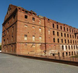 Letztes Haus aus der Schlacht um Stalingrad