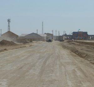 Kasachische Grenze nach Usbekistan
