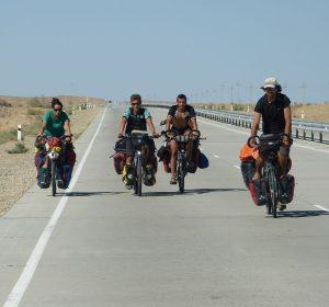 Viele Radfahrer unterwegs