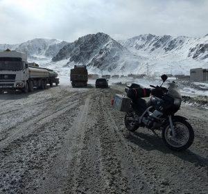 Schneeverwehungen auf 3100m Höhe