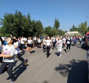 Schulsport auf der Straße