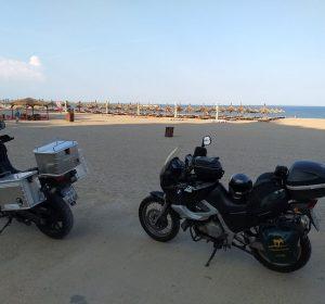 Motorradparade am Schwarzen Meer