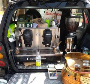 Fahrende Cafeteria in einem Smart