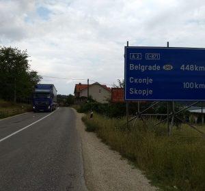 Auf der Fahrt nach Skopje