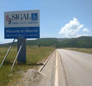 Grenze Mazedonien - Albanien
