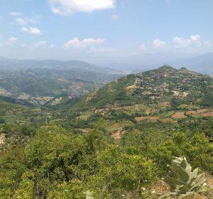 Blick über die Berge Albaniens
